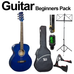 Brunswick Ultimate Beginners Acoustic Guitar Package - Blue