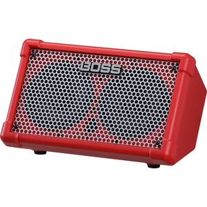 BOSS Cube Street II Portable PA -  Battery Powered Stereo Amp - Red