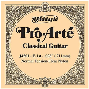 D'addario Pro Arte Classical Nylon Single String Normal Tension Single String