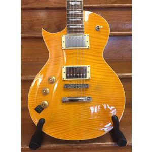 SECONDHAND LTD By ESP EC-256 Left Handed Single Cutaway Electric Guitar - Trans Amber