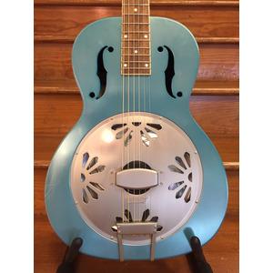 SECONDHAND Gretsch Roots Collection G9202 Honey Dipper Resonator Guitar - Metallic Blue