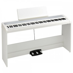 Korg B2 Digital Piano Package with Stand and 3-Pedal Unit - White