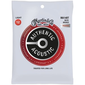 Martin Authentic Acoustic LifeSpan 2 Acoustic Guitar Strings - 80/20 Bronze