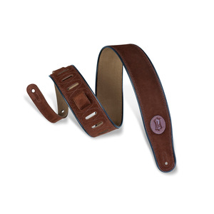"""Levy's 2.5"""" Suede Strap with Black Piping - Brown"""