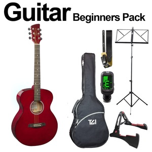 Brunswick Ultimate Beginners Acoustic Guitar Package - Red