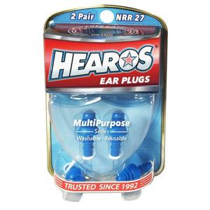 Hearos MultiPurpose Ear Plugs - 2 Pairs