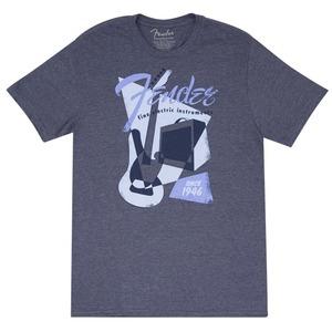 Fender T-Shirt - Vintage GEO 1946 / Blue