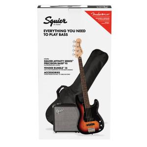 Squier Affinity Precision PJ Bass Package - 3 Colour Sunburst