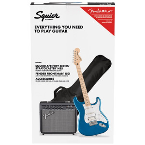 Squier Affinity Stratocaster HSS Electric Guitar Package with 15G Amp