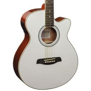 Brunswick BTK50 Electro Acoustic Guitar - White