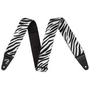 Fender Wild Animal Print 2' Guitar Strap - Wild Zebra