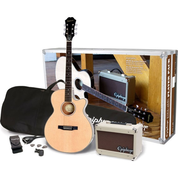 Epiphone PR4E Electro Acoustic Player Pack - Natural
