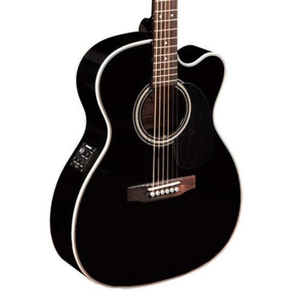 Sigma 000MC-1STEBK+ Electro Acoustic Guitar - Black