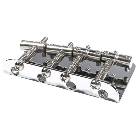 Fender Pure Vintage 70s Jazz Bass Bridge Assembly - Chrome