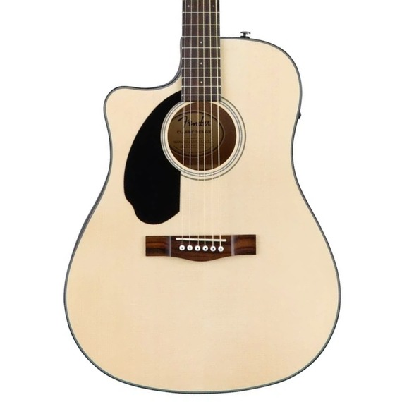 Fender CD60SCE LEFT HANDED Solid Top Dreadnought Acoustic Guitar - Natural