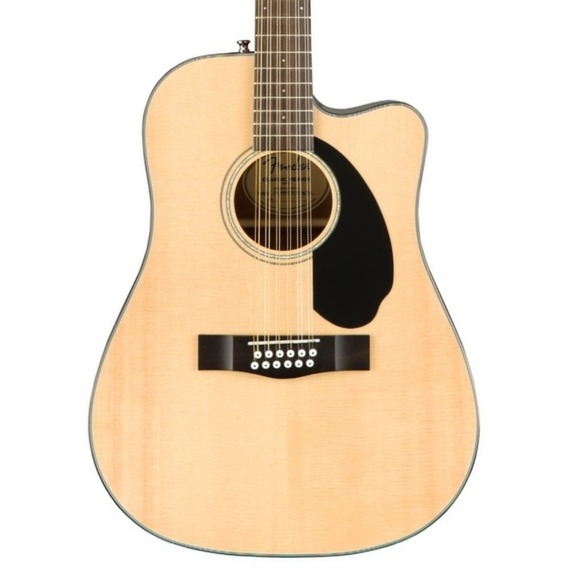 Fender CD60SCE 12-String Dreadnought Electro Acoustic Guitar - Natural