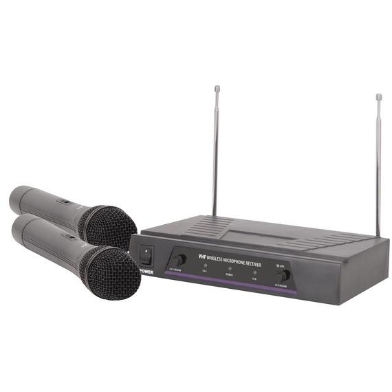 Qtx VHF Dual Handheld Wireless Mic System