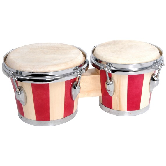 "Chord Chord Wood Bongo 7.5"" + 6.5"" - Two Tone Red"