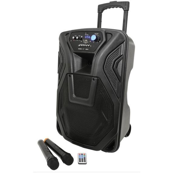 Qtx Busker 12 - Portable Battery PA Inc. Wireless Mics