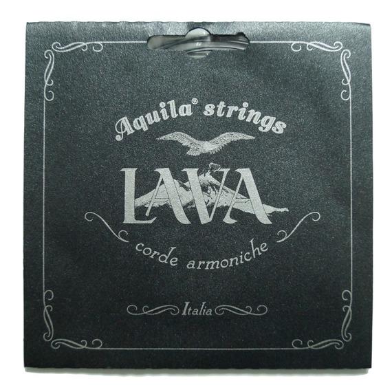 Aquila Lava Concert LOW G Ukulele String Set - Black