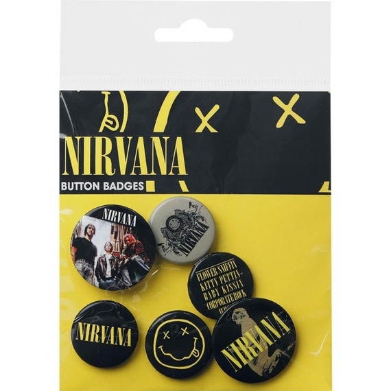 Official Nirvana Badge Set - Set of 6