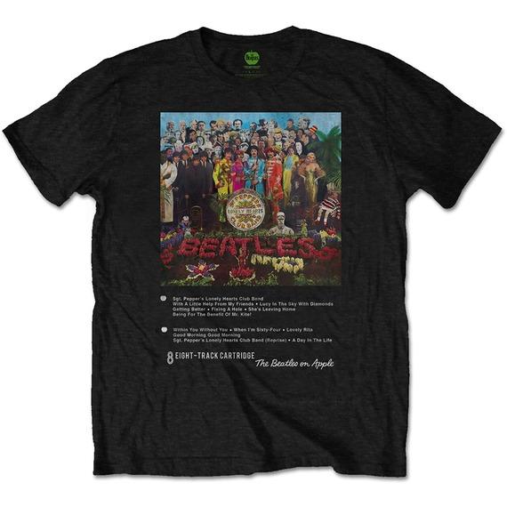 Official Beatles Sgt Pepper 8-Track T-Shirt - MEDIUM