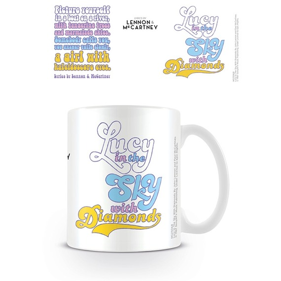 Official Beatles Boxed Mug - Lucy In The Sky Lyrics