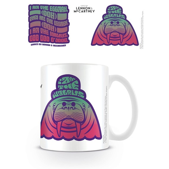Official Beatles Boxed Mug - I Am The Walrus Lyrics