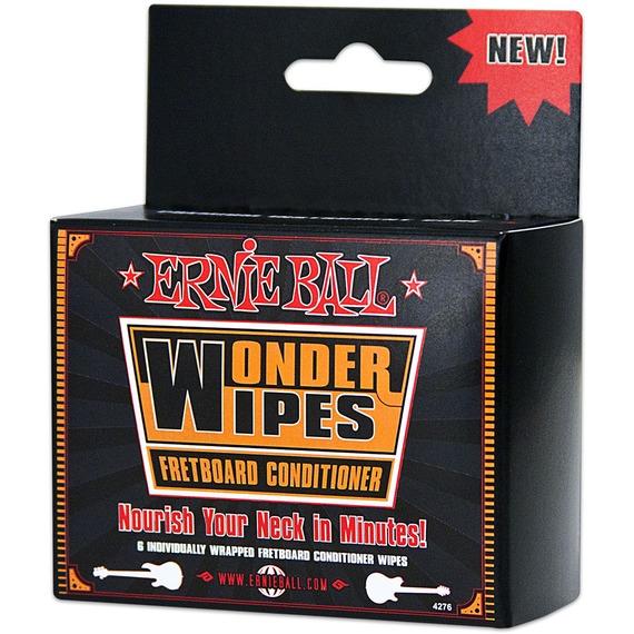 Ernie Ball Wonder Wipe Fretboard Conditioner - 6 Pack