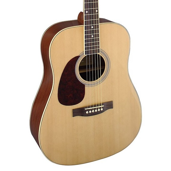 Brunswick Dreadnought Left Handed Acoustic Guitar - Natural