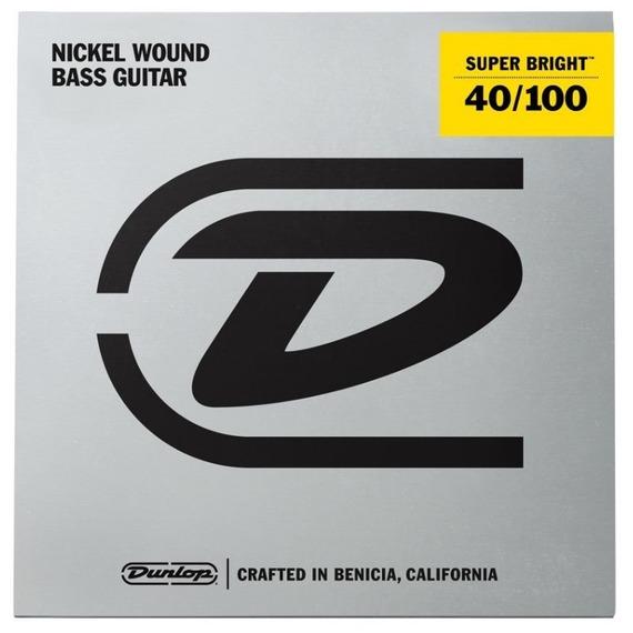 Jim Dunlop Super Bright Nickel Wound Bass Strings - Light 40-100