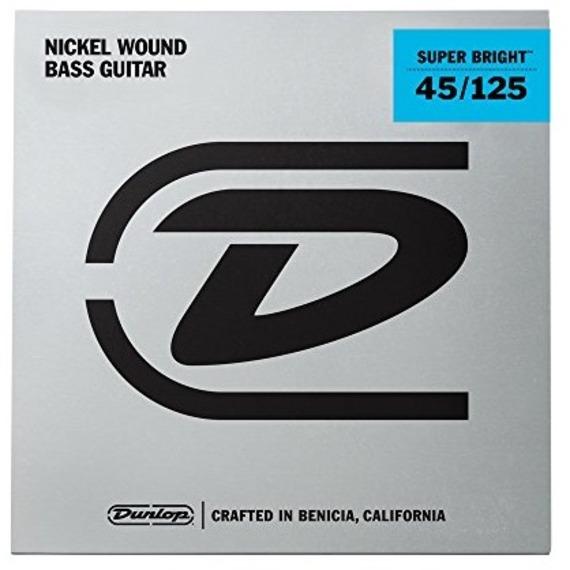Jim Dunlop Super Bright Nickel Bass Strings FIVE STRING 45-125