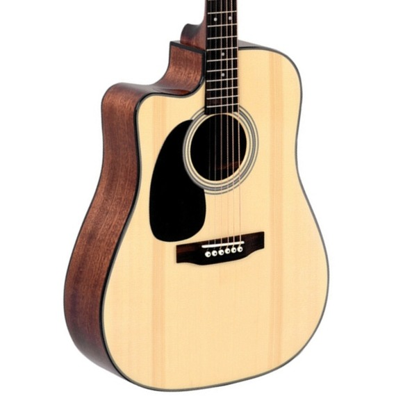 Sigma DMC1STEL Left Handed Cutaway Electro Acoustic - Natural