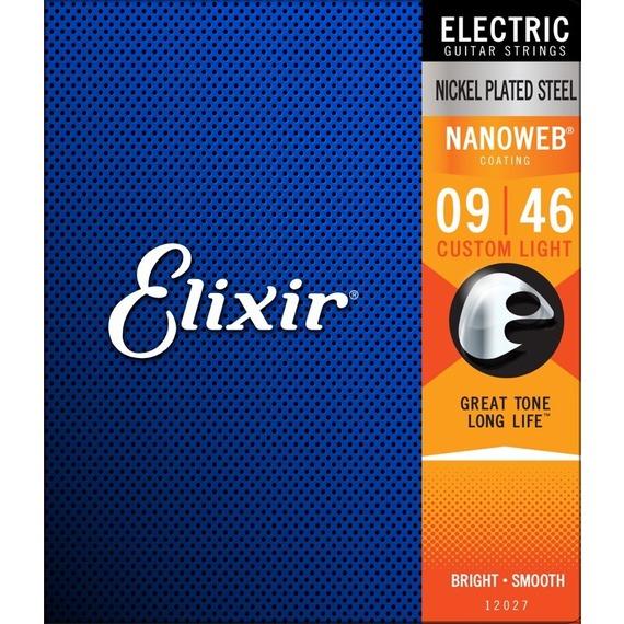 Elixir Nano Web Electric Custom Light 9-46