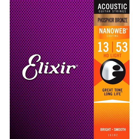 Elixir HD Light NanoWeb Acoustic Strings - Phosphor Bronze