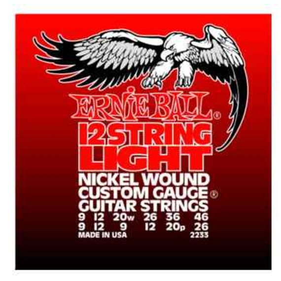 Ernie Ball 2233 Electric 12 String Light Guitar Strings