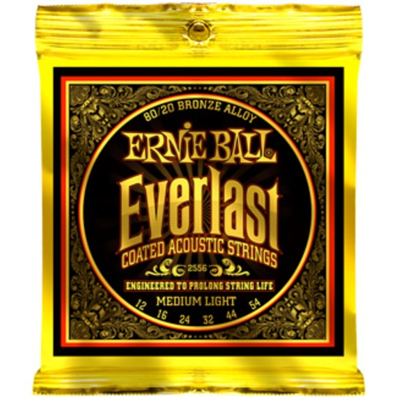Ernie Ball Everlast Coated Acoustic Strings - 12-54