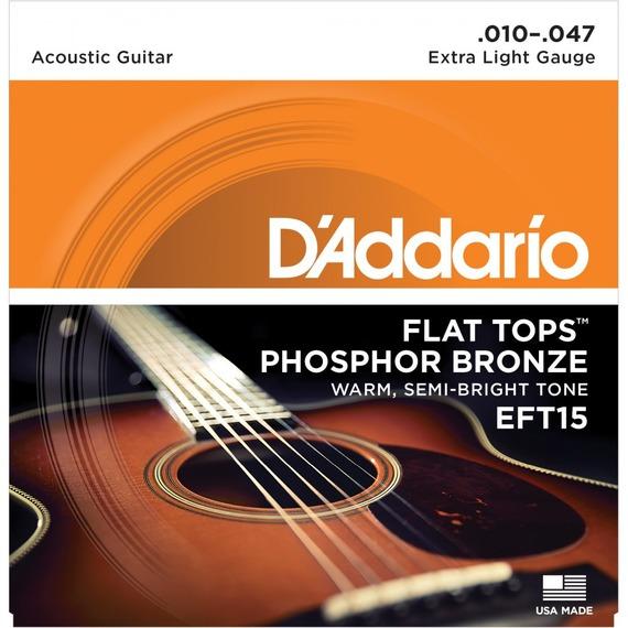 D'addario EFT15 Flat Tops Light - 10-47
