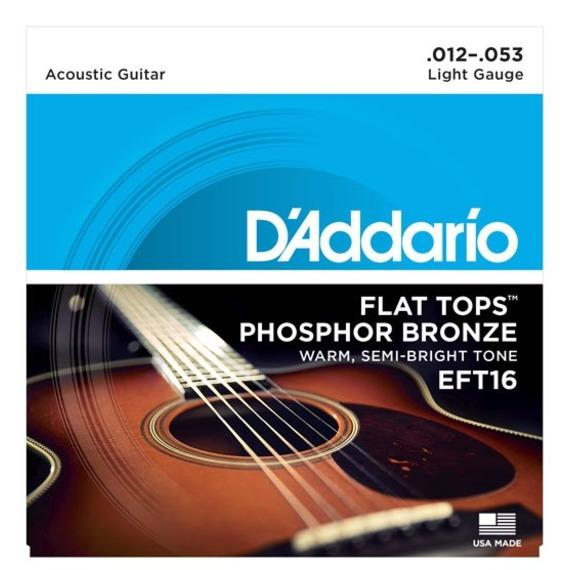 D'addario EFT16 Flat Tops Light - 12-53