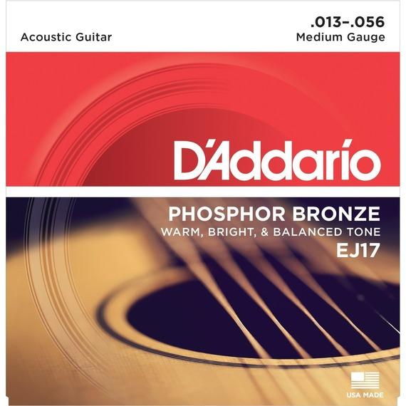D'addario EJ17 Phosphor Bronze Acoustic Strings - 13-56