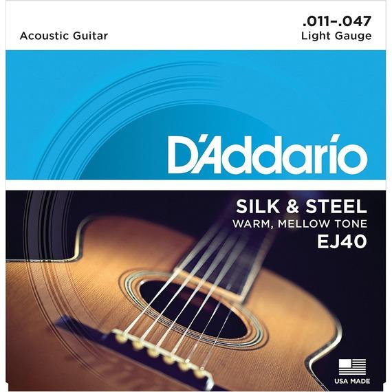 D'addario EJ40 Silk and Steel Acoustic Guitar Strings