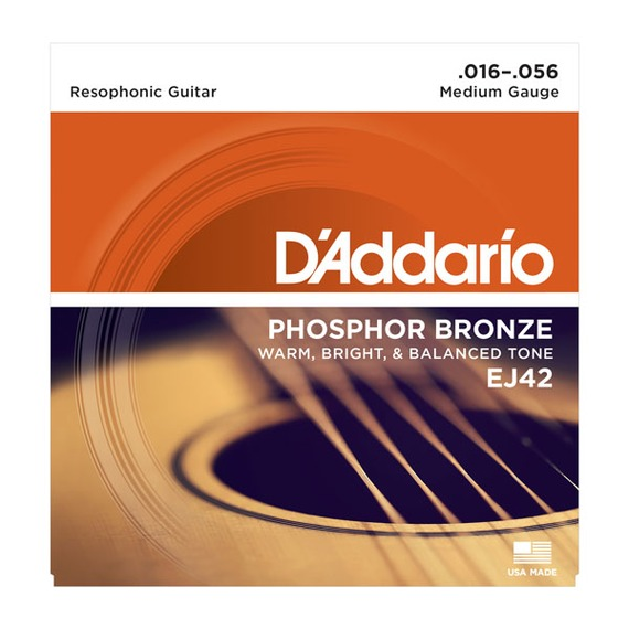 D'addario EJ42 Resophonic Guitar Strings - 16-56