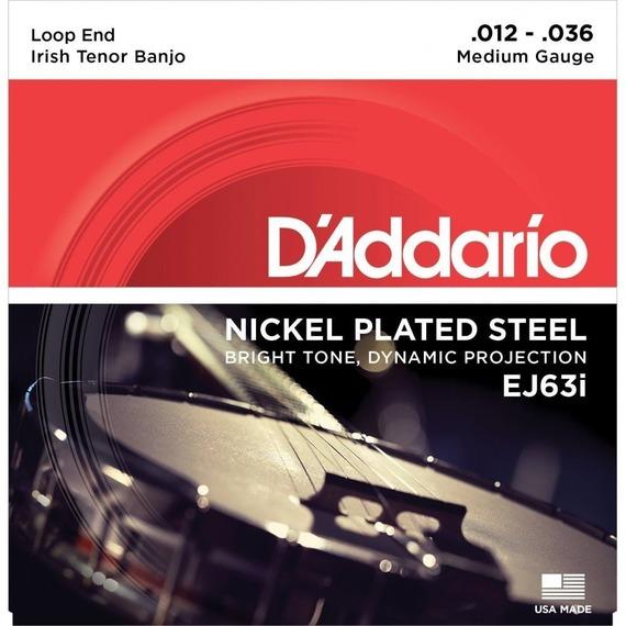 D'addario Banjo Nickel 4 String Tenor