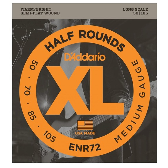 D'addario Half Round Electric Bass Regular Medium Gauge - 50-105