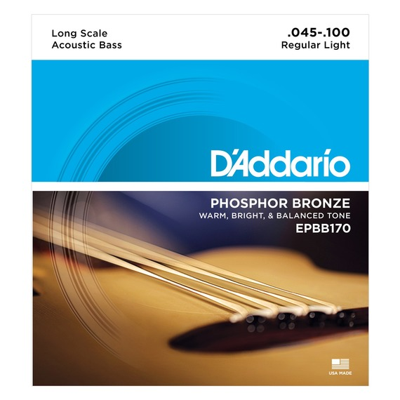 D'addario EPBB170 Phosphor Bronze Acoustic Bass Strings - 45-100