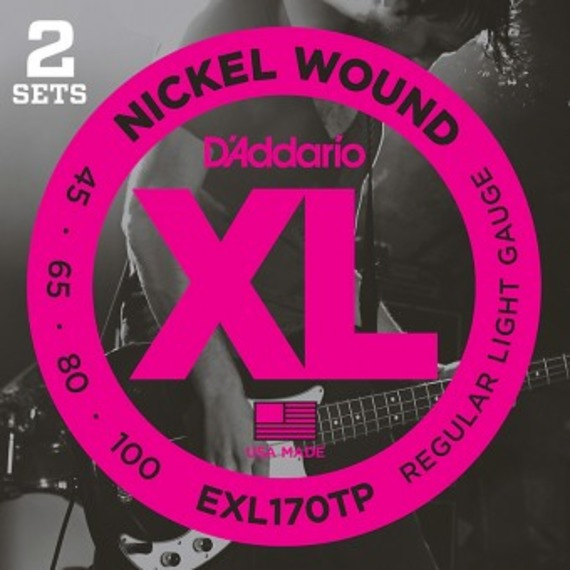 D'addario EXL170TP Electric Bass Strings TWIN PACK - 45-100
