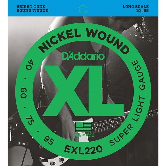 D'addario EXP220 Coated Electric Bass Strings - 40-95