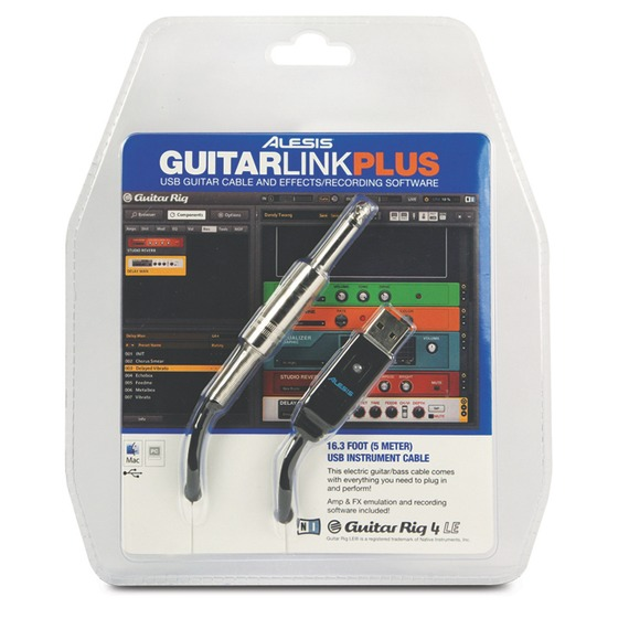 "Alesis GuitarLink Plus - 1/4"" Jack-USB Cable PLUS"
