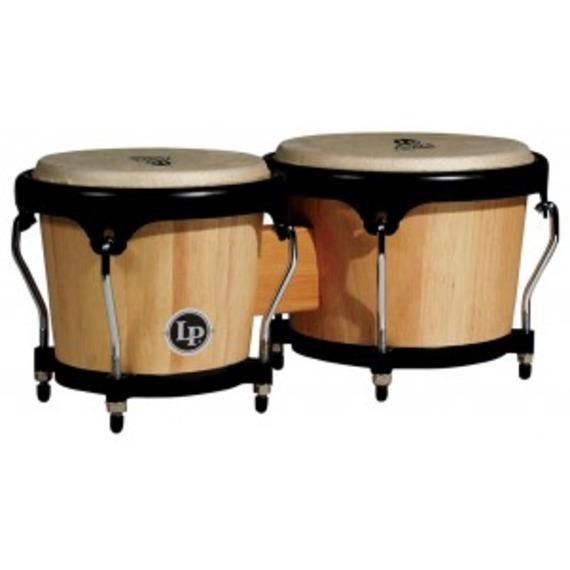 Lp Aspire Wood Bongos - Natural/Black