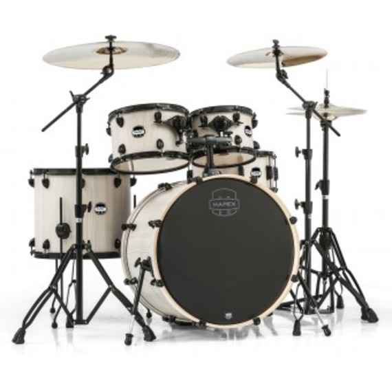 "Mapex Mars Drum Kit Inc. Hardware 22"" Rock Fusion - Bonewood"